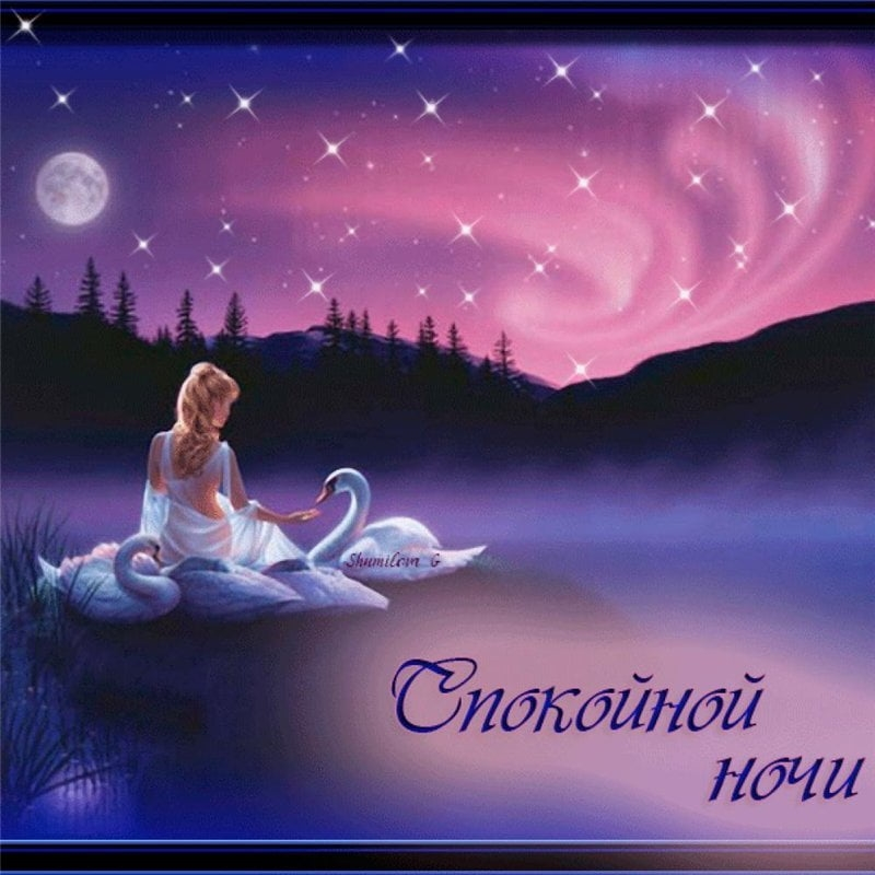 Любовь открытки спокойной ночи